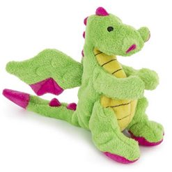 goDog Dragons w/ Chew Guard Technology Durable Plush Squeaker Dog Toy
