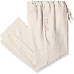 Plus Size Linen Pants, Perry Ellis Men's Big and Tall Big & Tall Linen Drawstring Pant